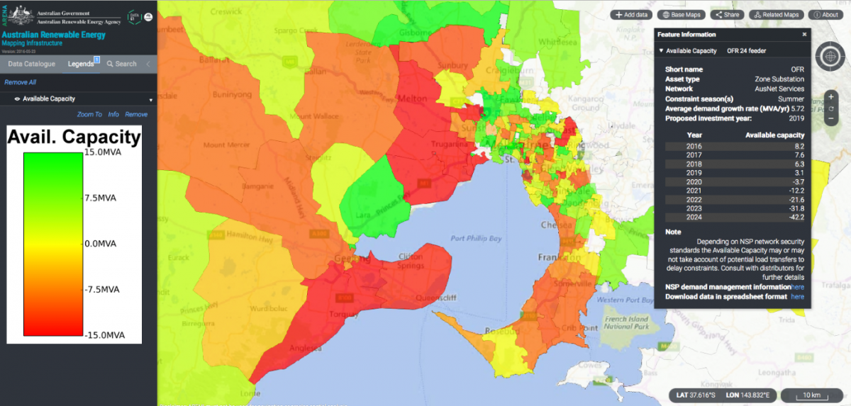 Network Opportunity Maps  Energy Networks Australia